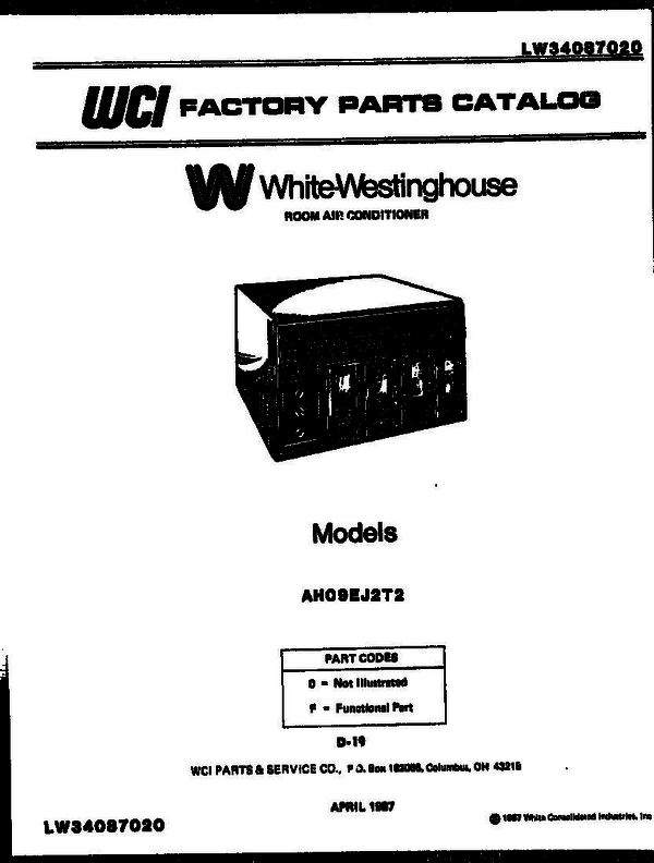 White-Westinghouse AS187K2K1