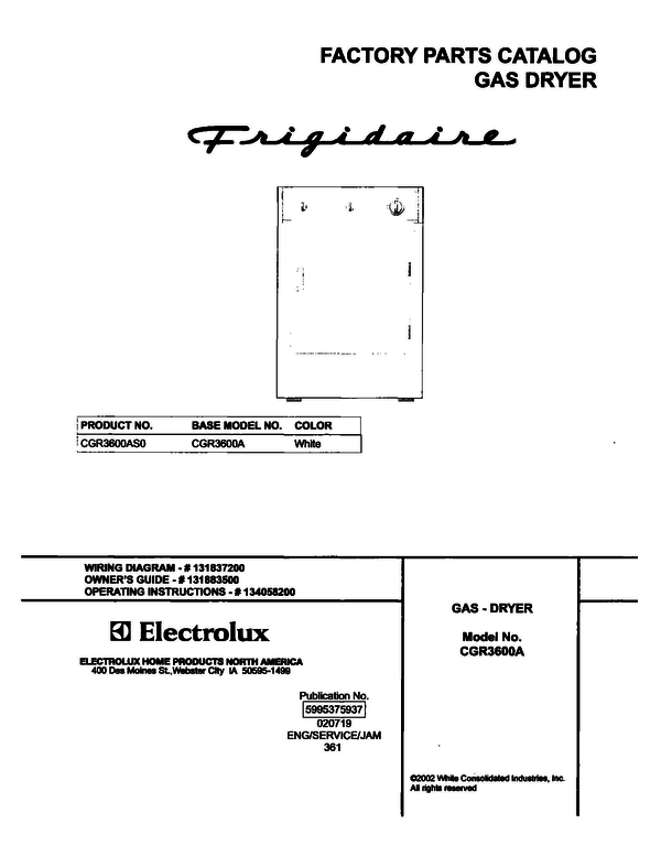 Frigidaire CGR3600AS0