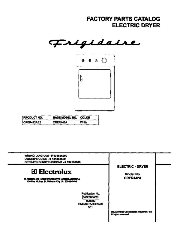 Frigidaire CRER442AS2