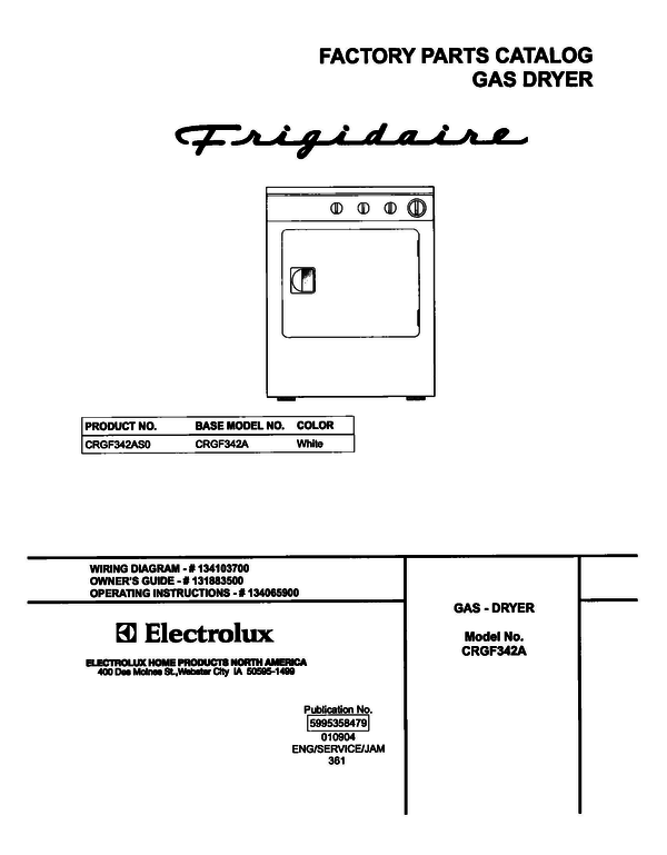 Frigidaire CRGF342AS0