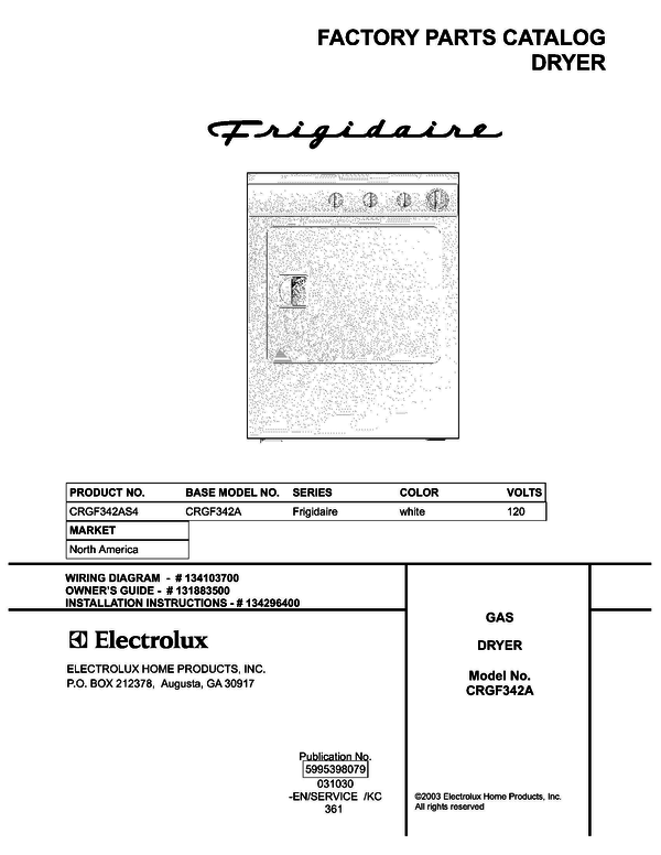 Frigidaire CRGF342AS4