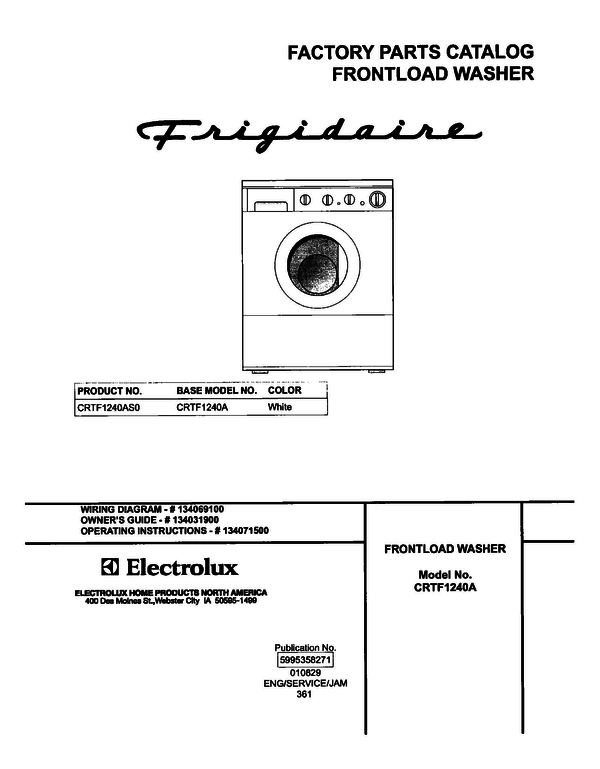 Frigidaire CRTF1240AS0