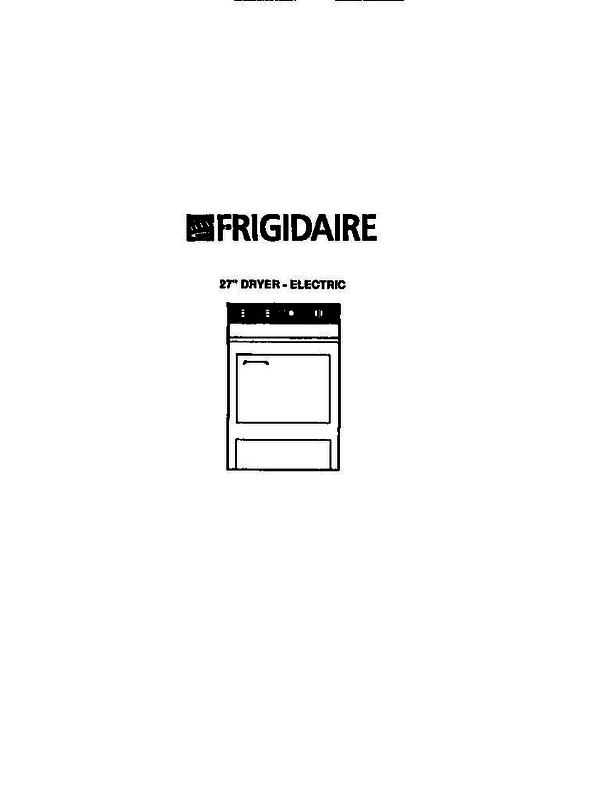 Frigidaire DE6500ADD1