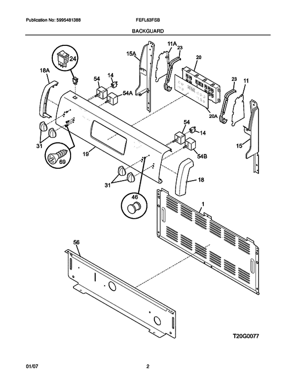 frigidaire fefl63fsb freestanding electric range parts and accessories at partswarehouse
