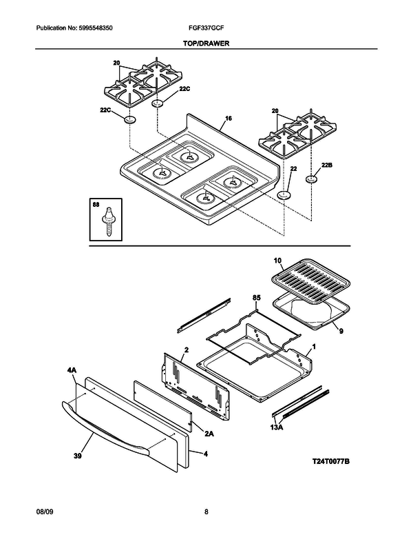 frigidaire fgf337gcf range parts and accessories at