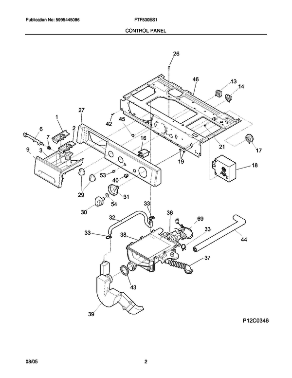 frigidaire ftf530es1 washer parts and accessories at partswarehouse