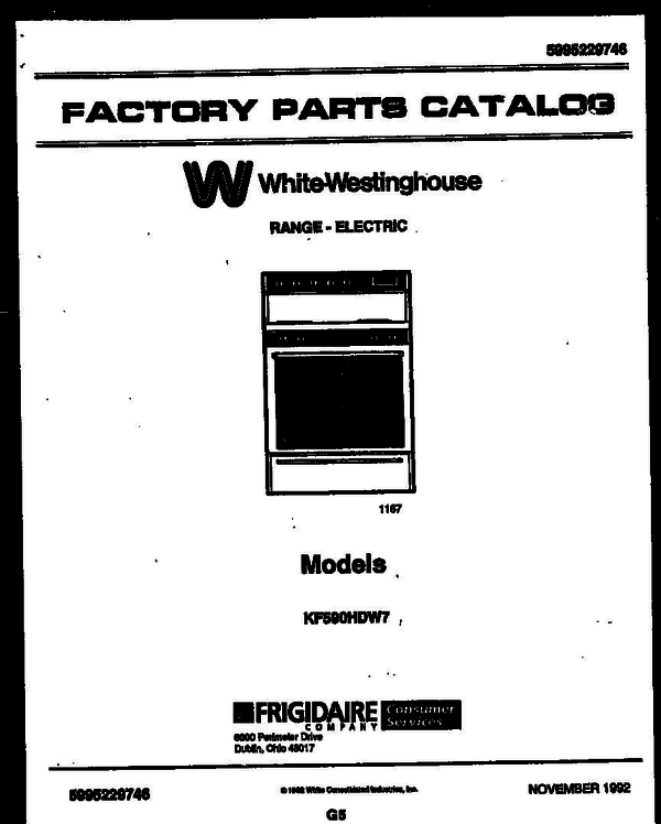 White-Westinghouse KF590HDH7