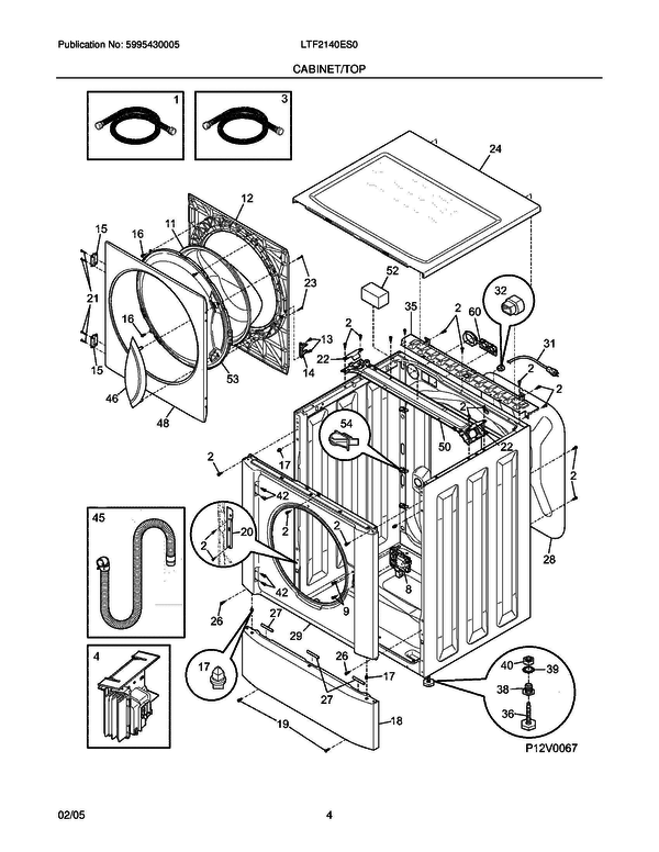 Frigidaire Ltf2140es0 Washer Parts And Accessories At