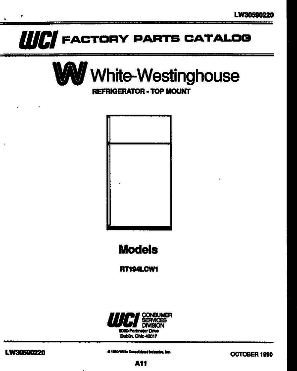 White-Westinghouse RT194LCW1