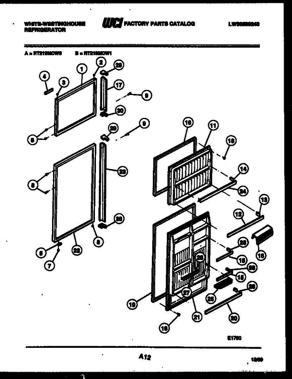 White-Westinghouse RT219MCF1