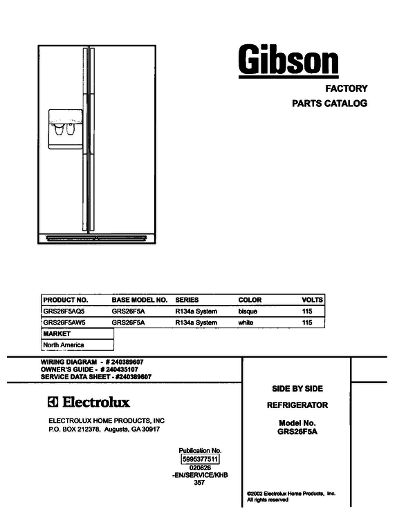 Gibson GRS26F5AW5