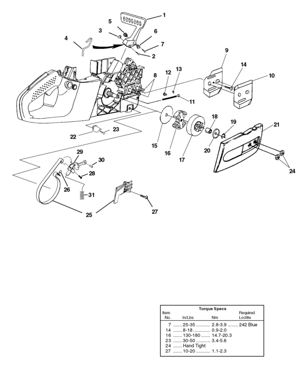 Homelite Z3300 Chainsaw Parts Diagram