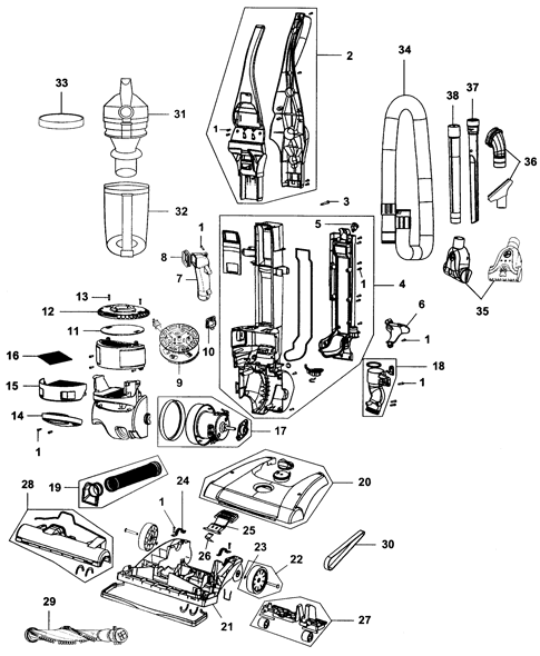 Bissell 14251 Parts List And Diagram Ereplacementpartscom