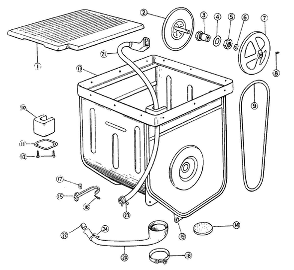 maytag a207 top loading washer parts and accessories at