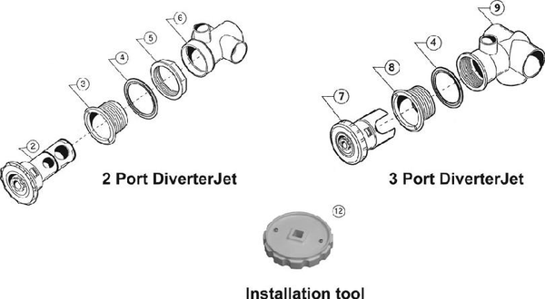 Pentair Diverter Jets