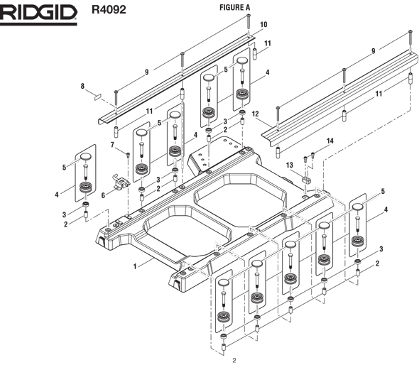Ridgid R4092 10in Tile Saw Parts And Accessories