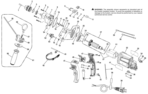 "Switch Wiring Diagram For R5013: Ridgid R5013 1 2"" Hammer Drill Parts and Accessories  PartsWarehouse,"