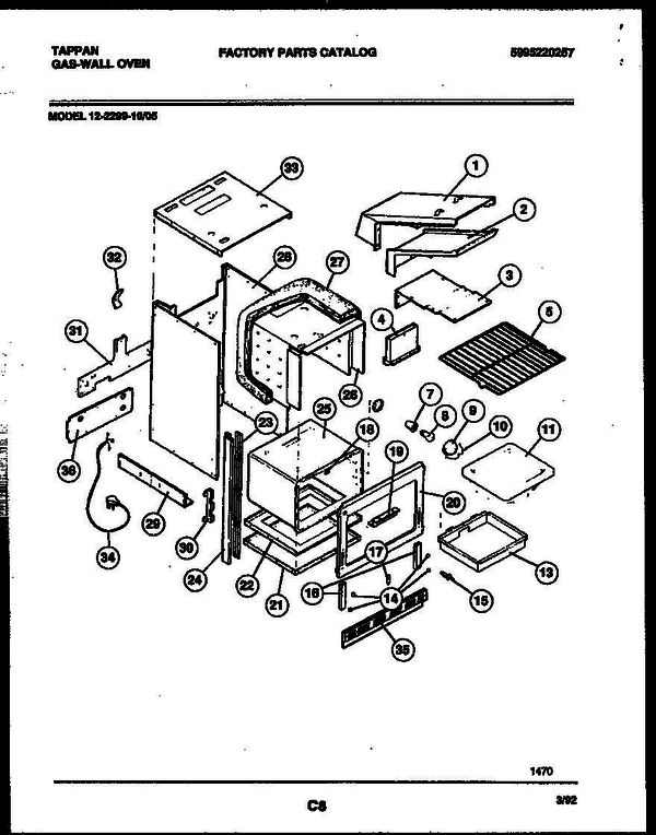 tappan gas oven wiring diagram for wall tappan 12-2299-10-05 gas wall oven - 5995220257 parts and ... vulcan gas oven wiring diagram #6