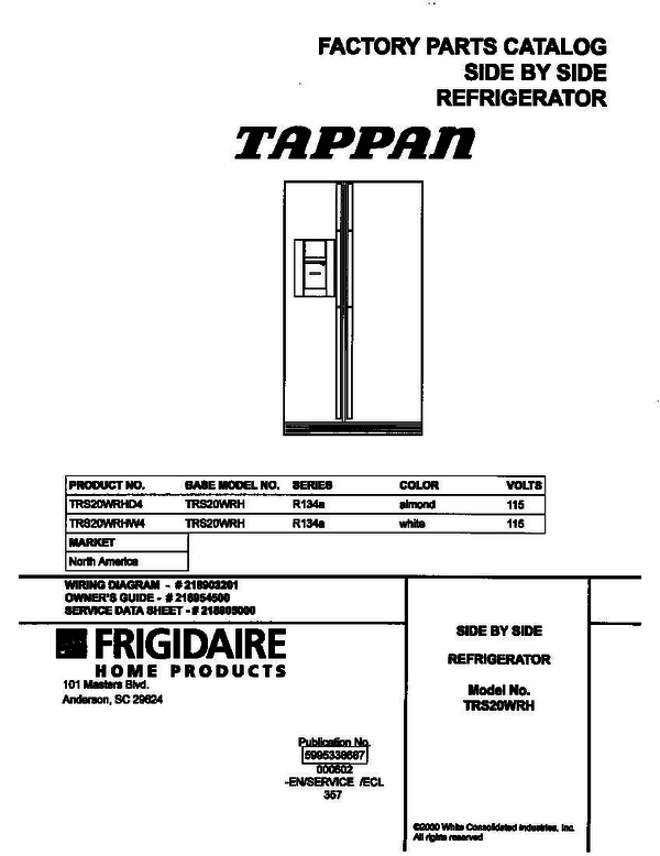 Tappan TRS20WRHW4