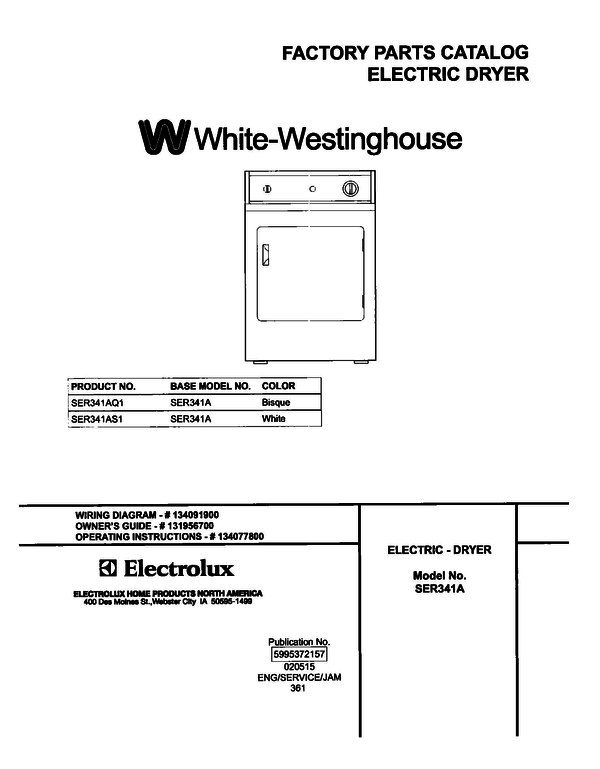 White-Westinghouse SER341AS1