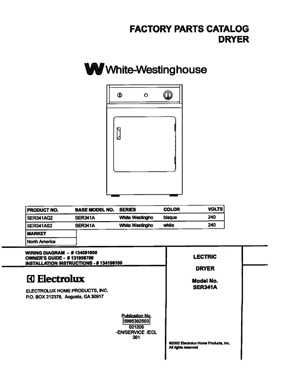 White-Westinghouse SER341AS2