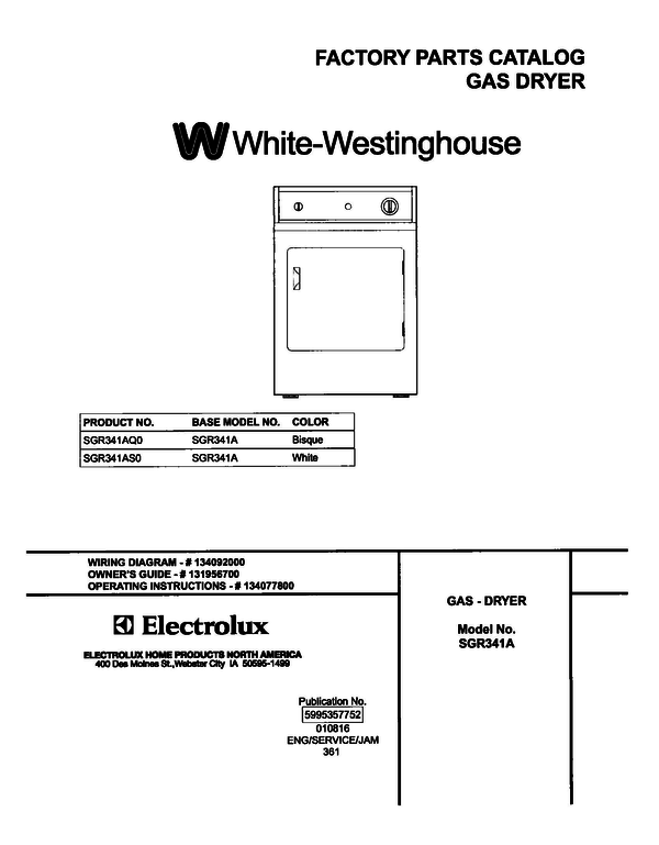 White-Westinghouse SGR341AS0