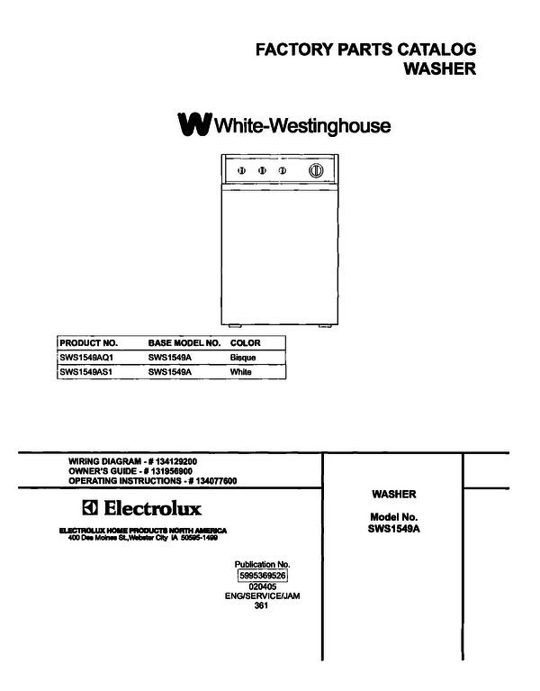 White-Westinghouse SWS1549AS1