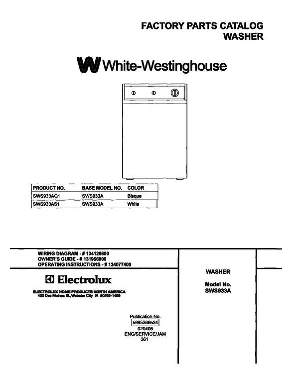 White-Westinghouse SWS933AS1