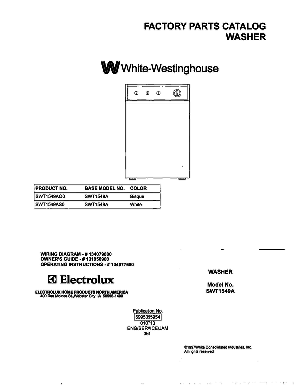 White-Westinghouse SWT1549AS0