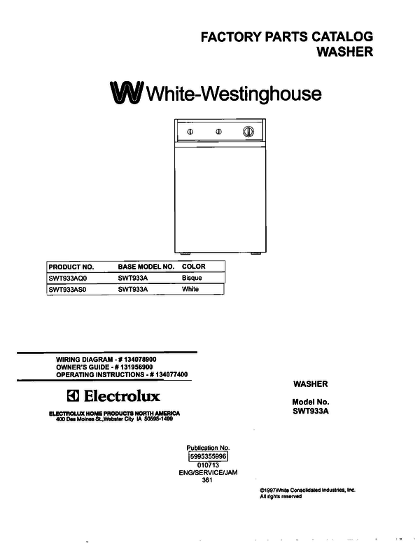 White-Westinghouse SWT933AS0
