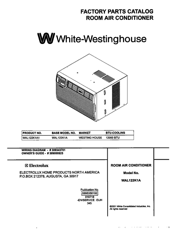 White-Westinghouse WAL122K1A1