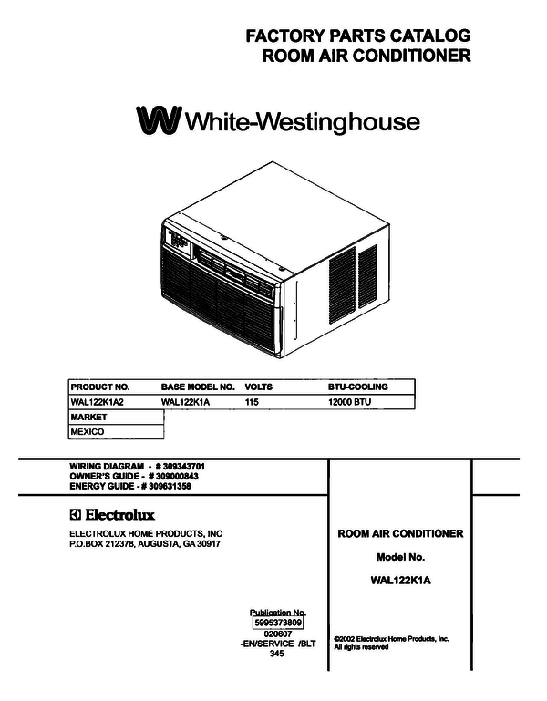 White-Westinghouse WAL122K1A2