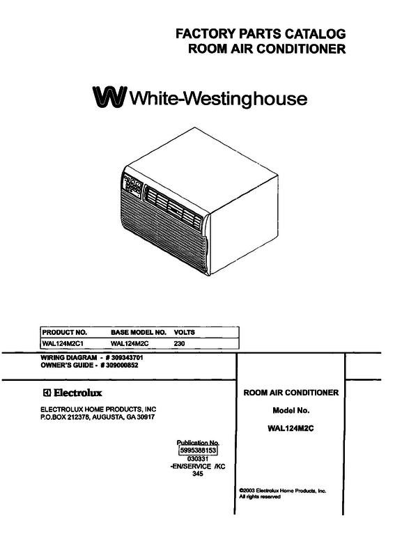 White-Westinghouse WAL124M2C1