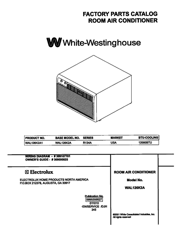 White-Westinghouse WAL126K2A1