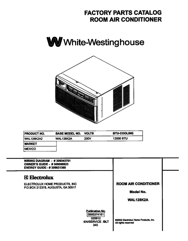 White-Westinghouse WAL128K2A2