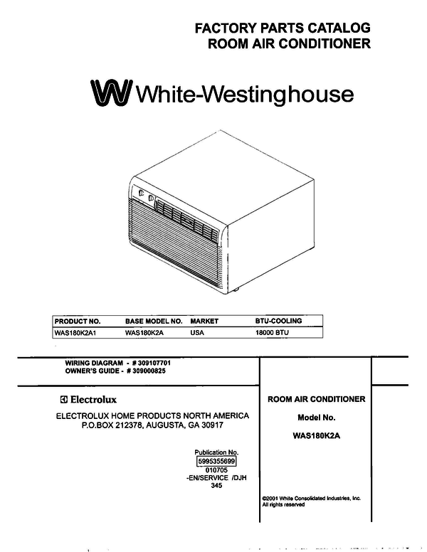 White-Westinghouse WAS180K2A1