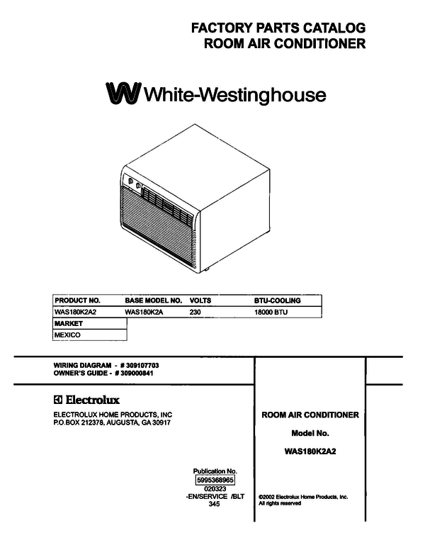 White-Westinghouse WAS180K2A2