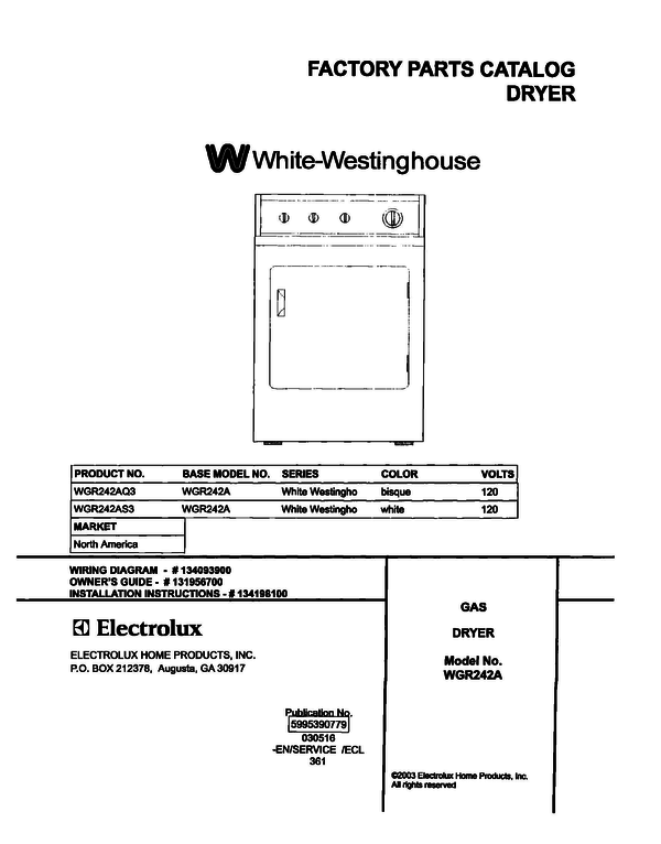 White-Westinghouse WGR242AS3
