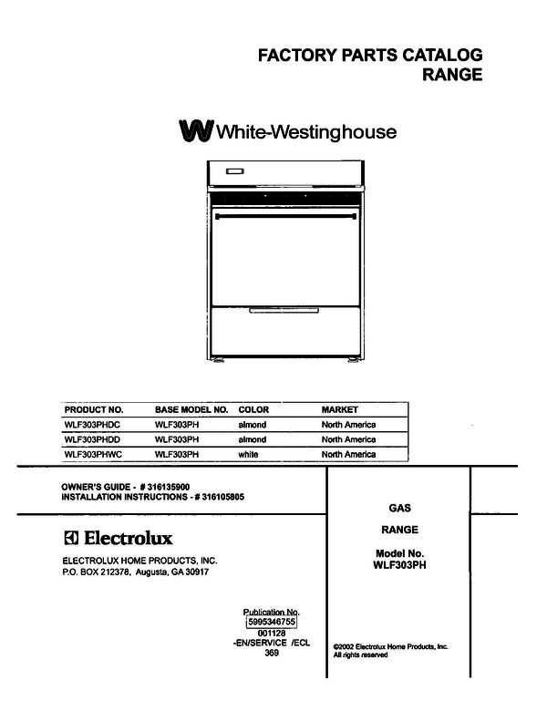 White-Westinghouse WLF303PHDC