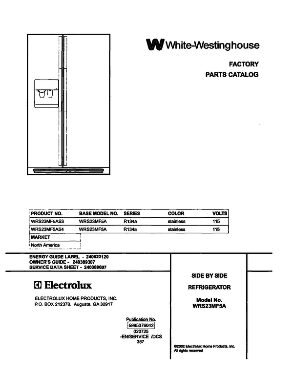 White-Westinghouse WRS23MF5AS3