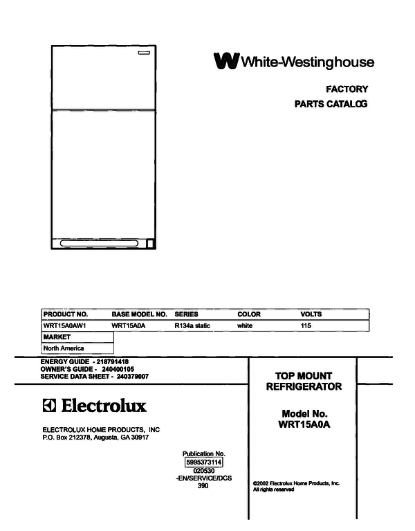 White-Westinghouse WRT15A0AW1