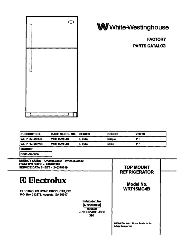 White-Westinghouse WRT15MG4BW0