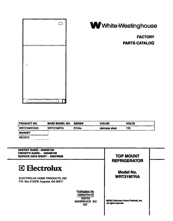 White-Westinghouse WRT21MR7AS3