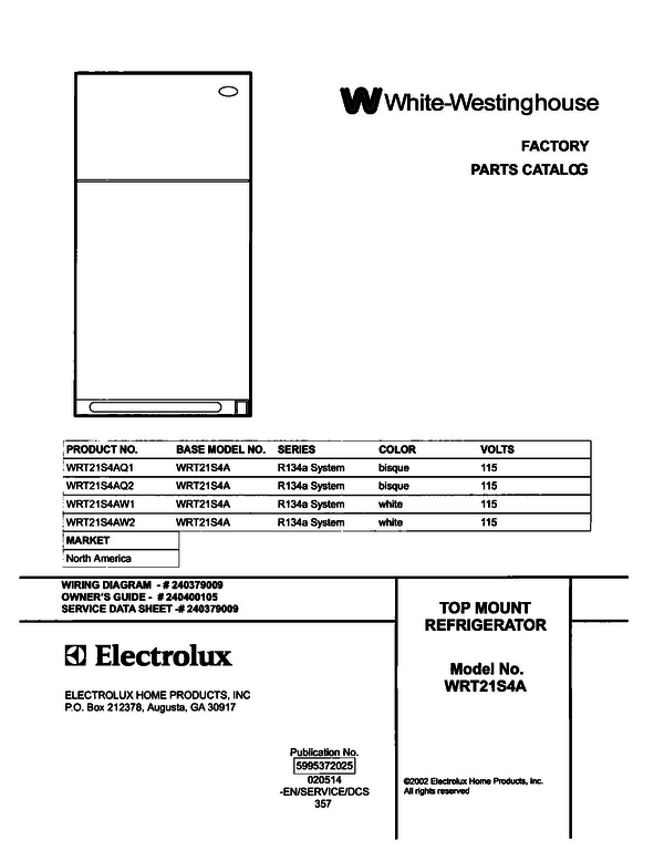 White-Westinghouse WRT21S4AQ2