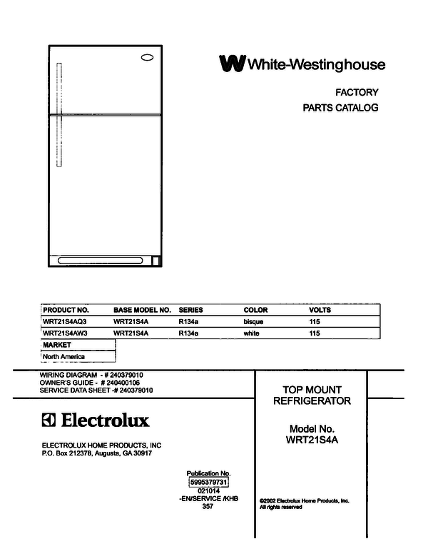 White-Westinghouse WRT21S4AW3