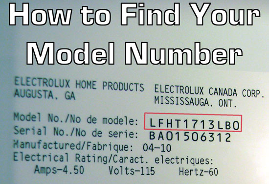 How to find your Frigidaire model number. It's often located inside or behind the unit.