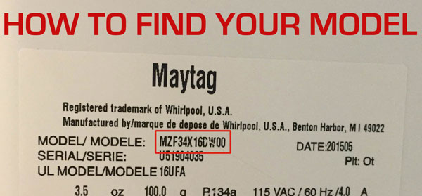 How to find your maytag model number. It's located on the back or bottom of your vacuum or steam cleaner.