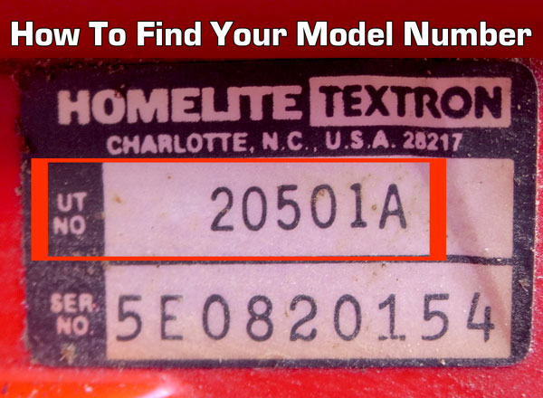 How to find your homelite model number. It's located on the back or bottom of your vacuum or steam cleaner.