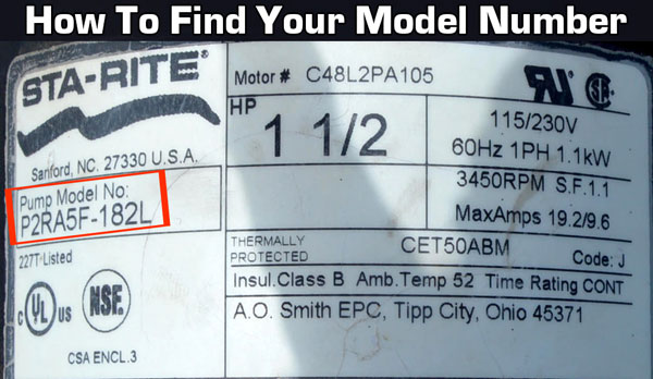How to find your sta-rite model number. It's located on the back or bottom of your vacuum or steam cleaner.