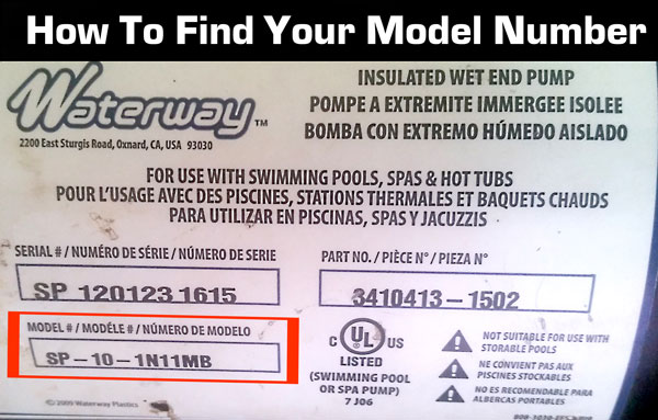 How to find your waterway model number. It's located on the back or bottom of your vacuum or steam cleaner.